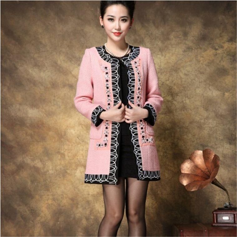 chaquetas para mujer rosa