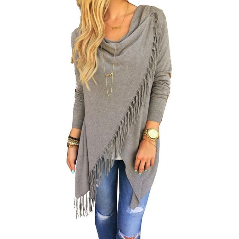 chaquetas para mujer tejidas otoño