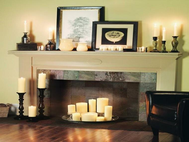 chimeneas decorativas llena velas