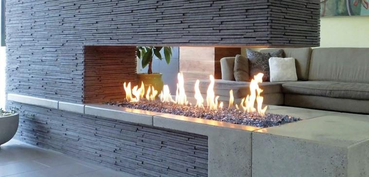 chimenea moderna separador ambientes