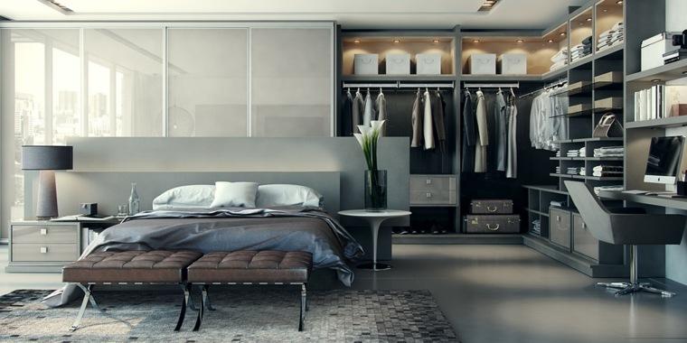 closet integrado esquina habitacion materiales
