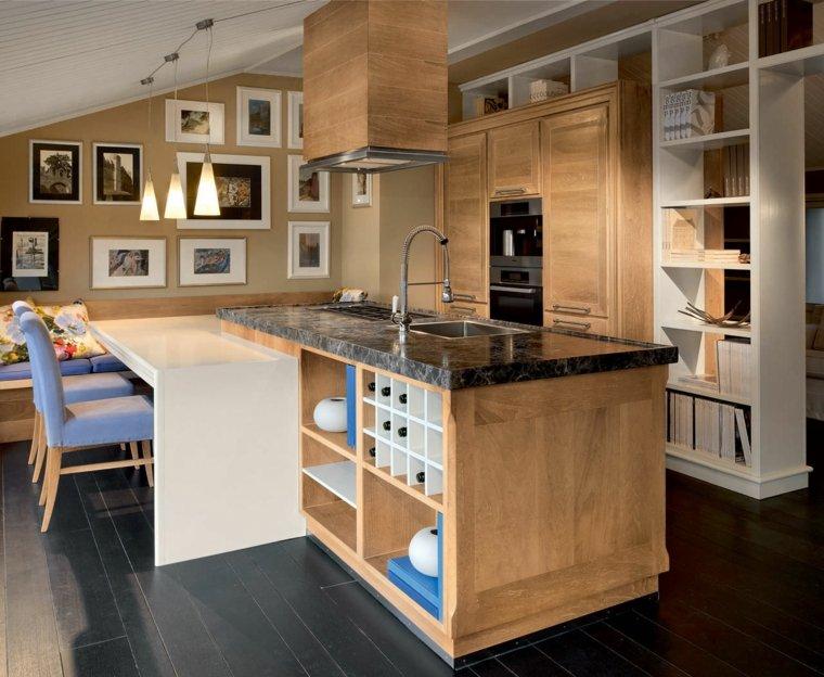 cocina diseno clasico muebles madera ideas