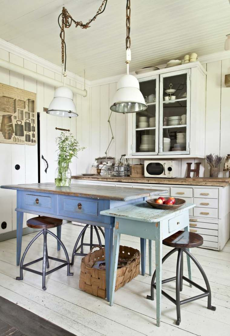 Muebles auxiliares de cocina 24 dise os interesantes for Muebles de cocina vintage