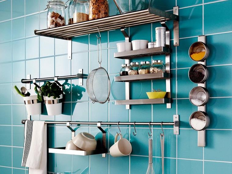 cocina ideas ahorar espacio colagndo pared ideas