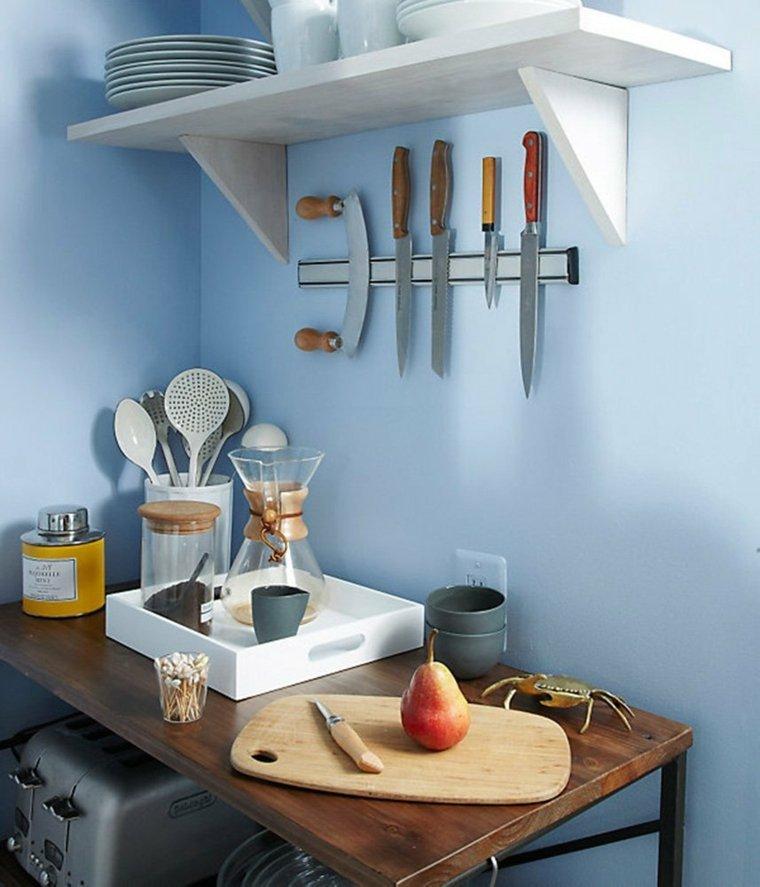 cocina ideas ahorar espacio cuchillos pared ideas
