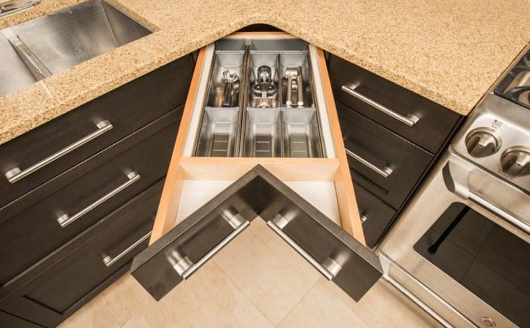 cocina ideas ahorar espacio muebles esquinas ideas
