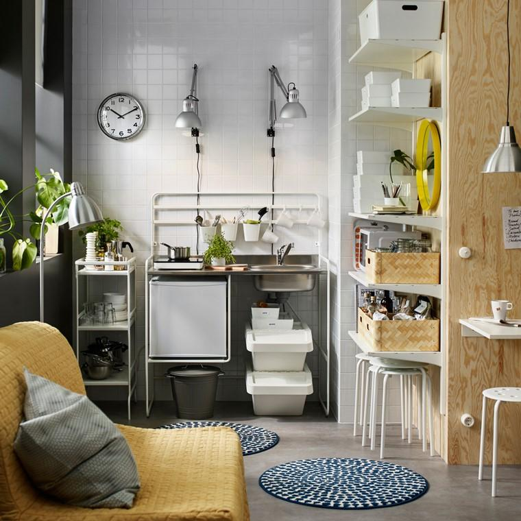 cocina ikea diseno cocina pequena espacios estrecho ideas
