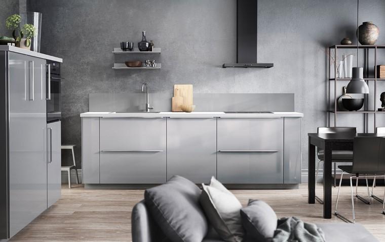 cocina ikea diseno elegante gris ideas