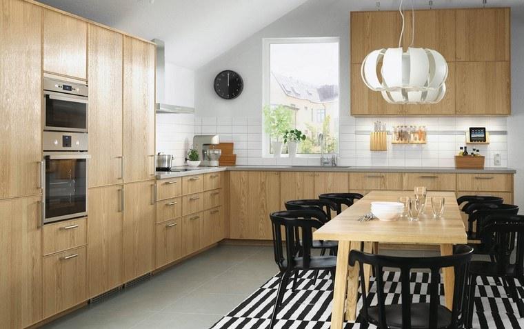 cocina ikea diseno madera acogedor espacio ideas