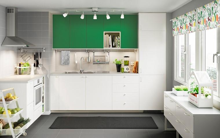 cocina ikea diseno verde fresco original ideas
