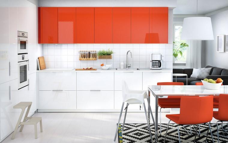 cocina ikea toques color armarios brillantes ideas
