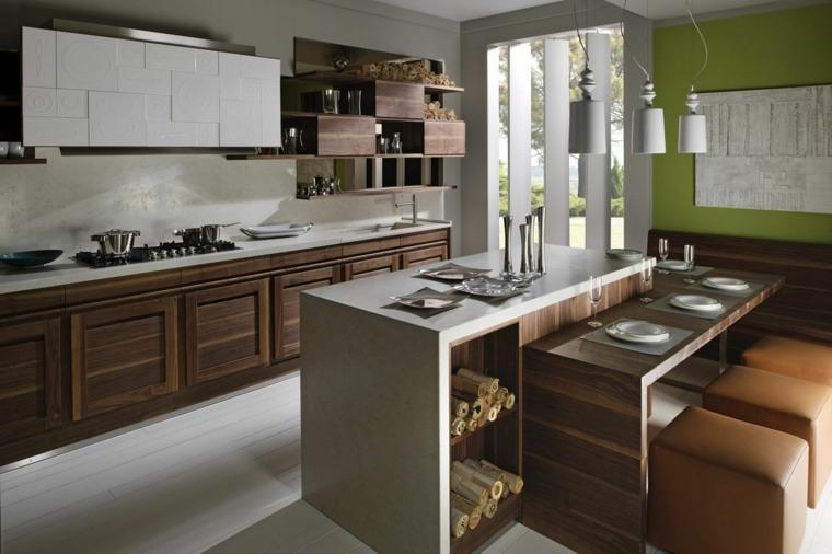 cocina moderna armarios flotantes originales ideas