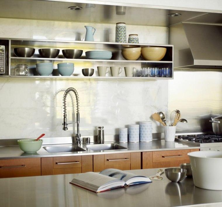 Estanterias cocina estantes abiertos de estilo moderno for Cocinas diseno 2016