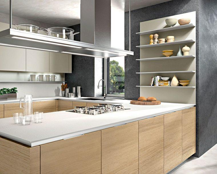 cocina moderna estantes abiertos modernios