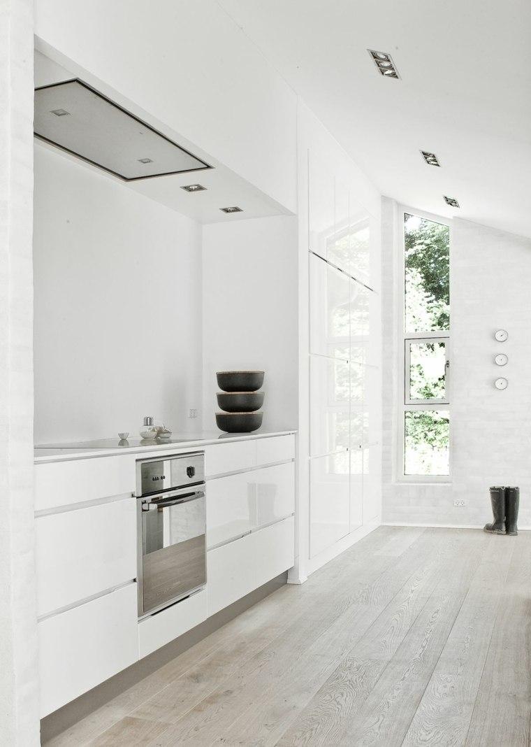 Cocinas minimalistas 24 dise os de interiores for Cocinas modernas color blanco