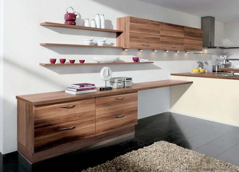 Estanterias cocina - estantes abiertos de estilo moderno -