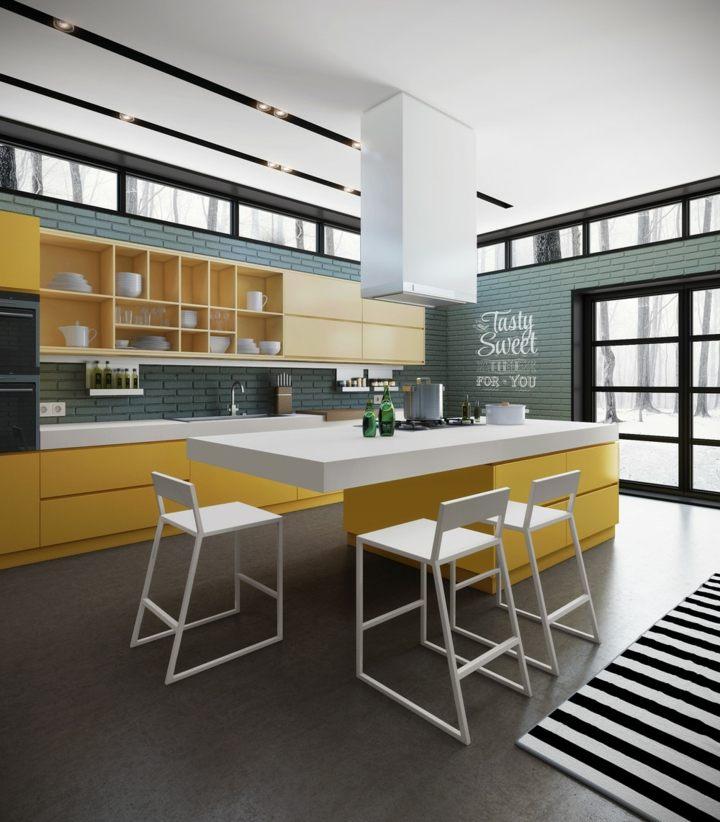cocinas con encanto pintadas paredes alfombras
