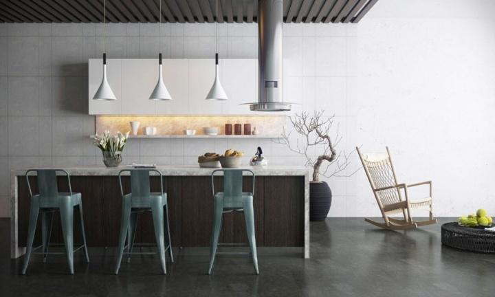 cocinas con encanto ramas sillones lamparas