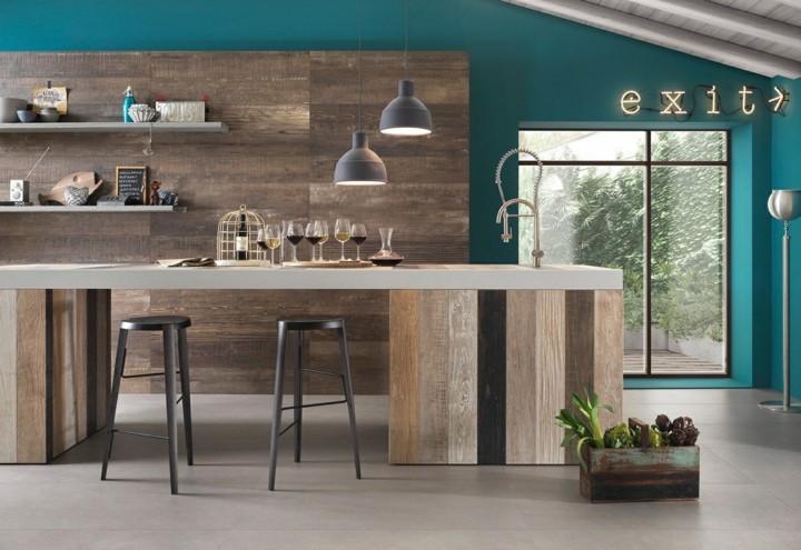 cocinas con encanto rustica muebles plantas