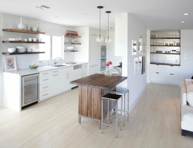 Estanterias cocina estantes abiertos de estilo moderno - Disenos cocinas modernas ...