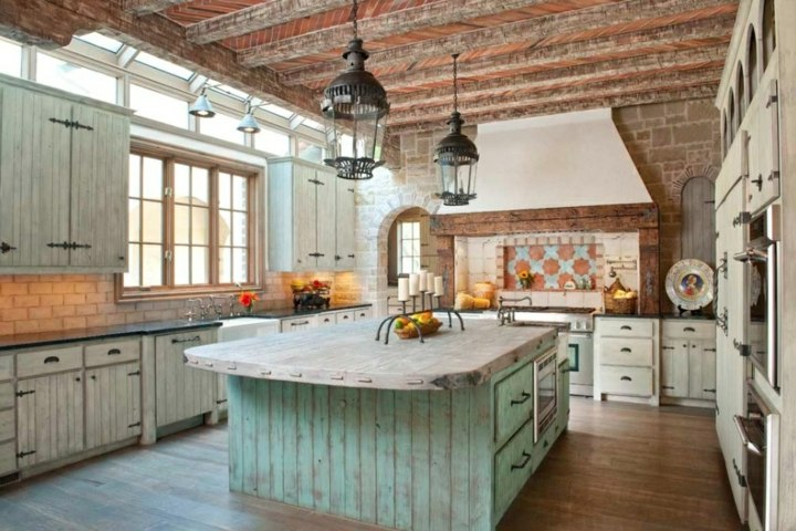 cocinas rusticas clara luminosas verdes