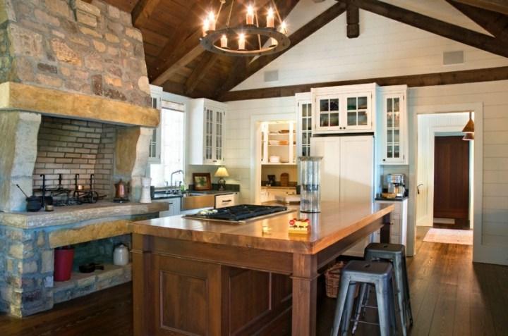 cocinas rusticas piedra sentido acogedor