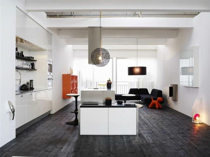color negro ideas especiales muebles naranja