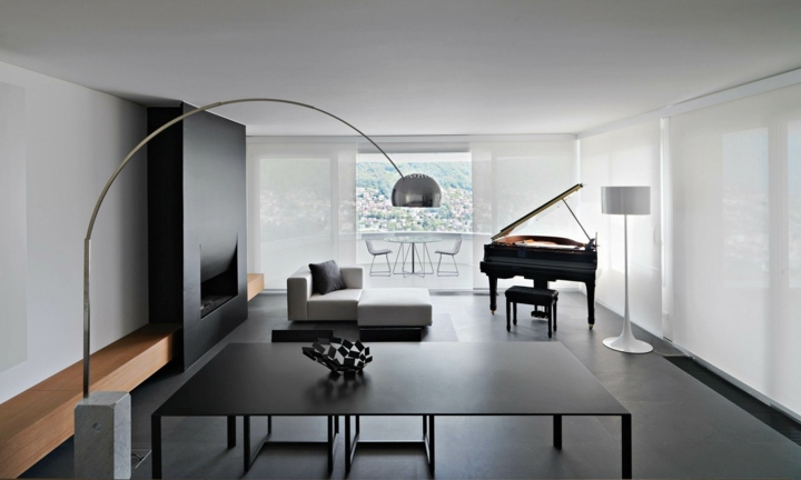 Color negro ideas para suelos y decoraciones de interiores - Cocina suelo negro ...