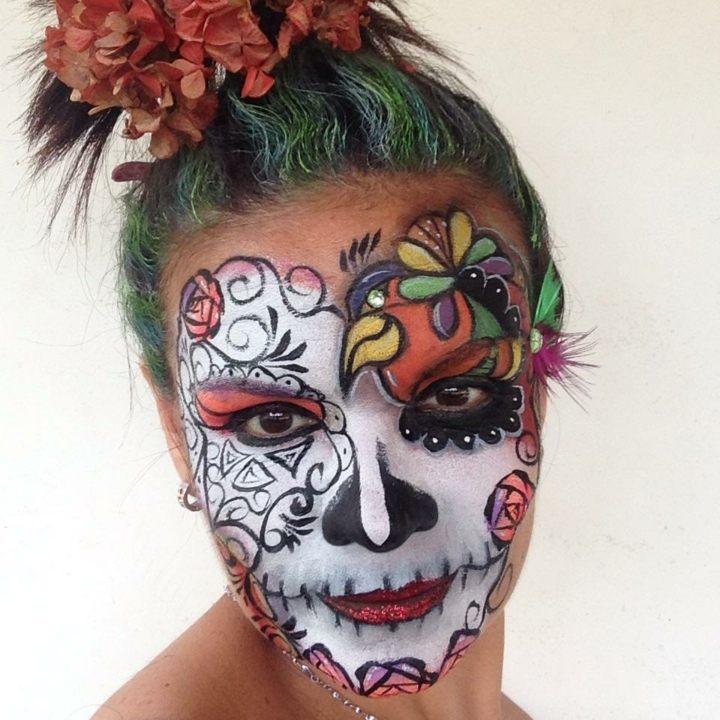 colorido estilos colores rostro florales