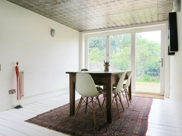 comedor minimalista sillas eames moenras nordicas