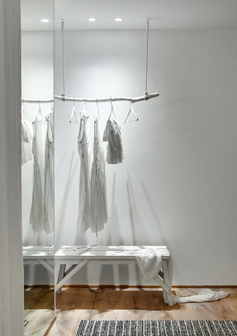como hacer un vestidor en una habitacion blanco ideas