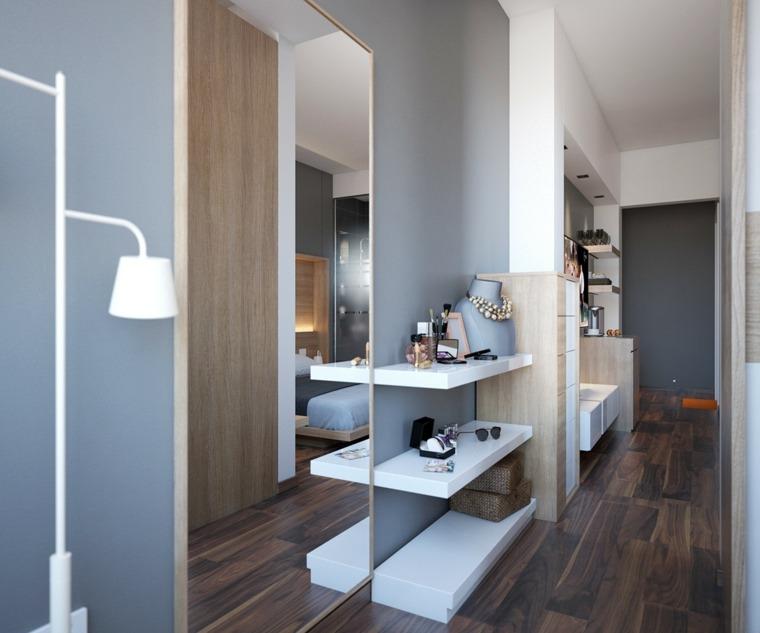 C mo hacer un vestidor en una habitaci n y organizarlo for Espejo grande habitacion