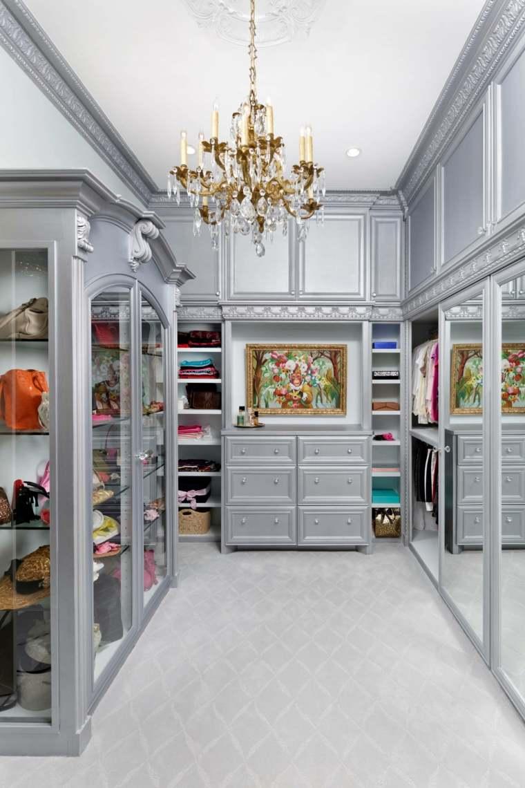 como hacer un vestidor en una habitacion gris ideas