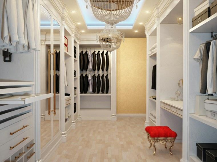 muebles blancos ideas vestidor moderno