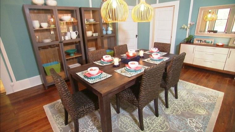 Decoracion salon comedor ideas para ahorrar espacio for Sillas mimbre comedor