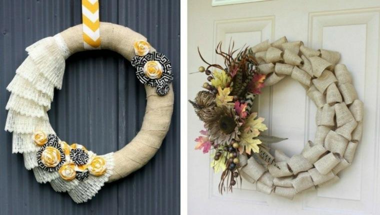 coronas de flores diy decoraciones amarillo