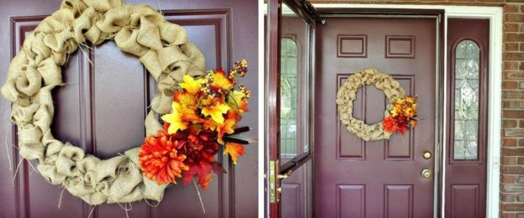 coronas de flores librero puertas imagenes