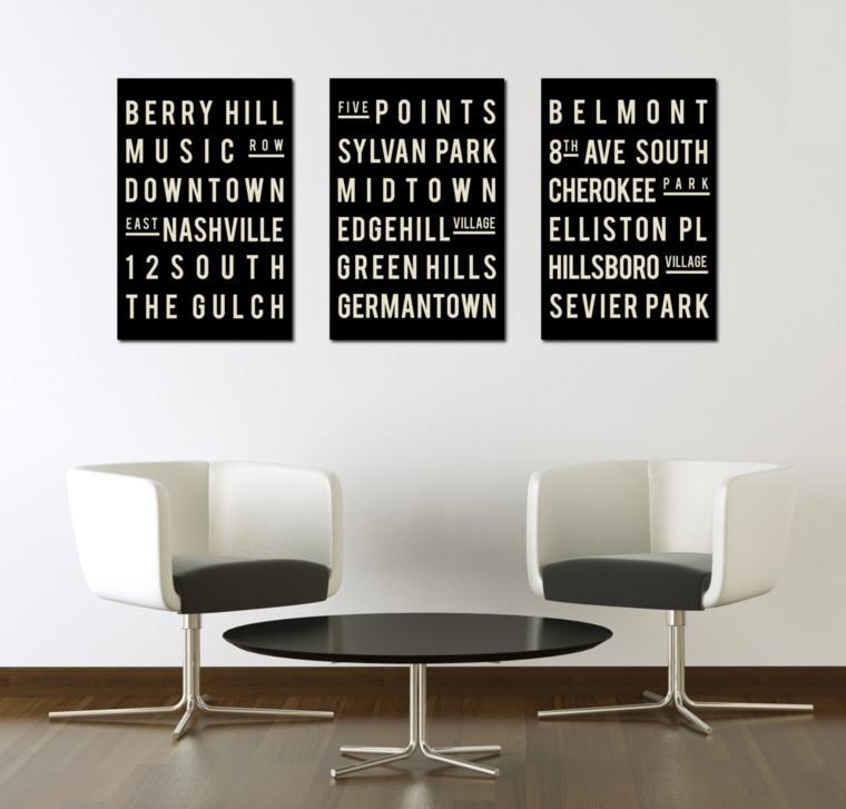 cuadros abstractos minimalistas decorar