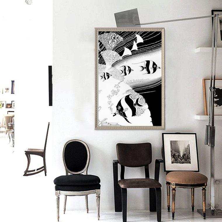 Cuadros minimalistas para decorar - Decoracion de paredes con cuadros ...