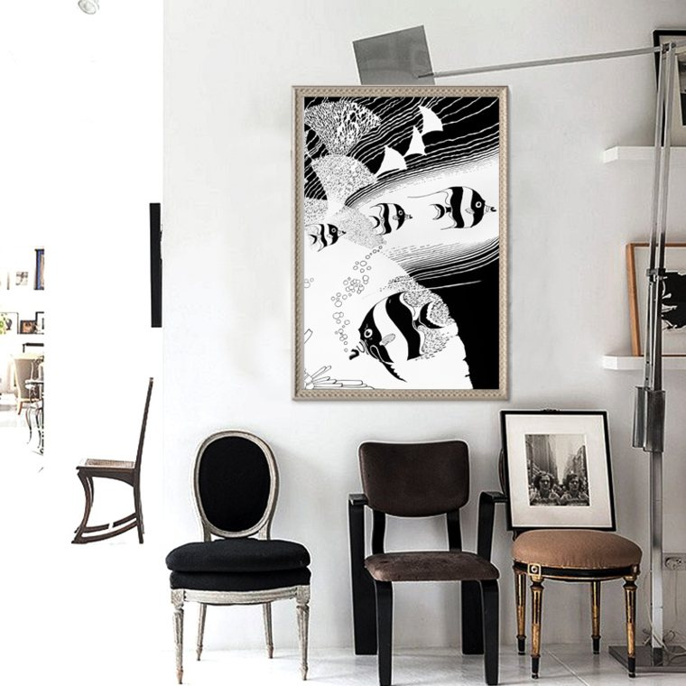 cuadros minimalistas blanco negro