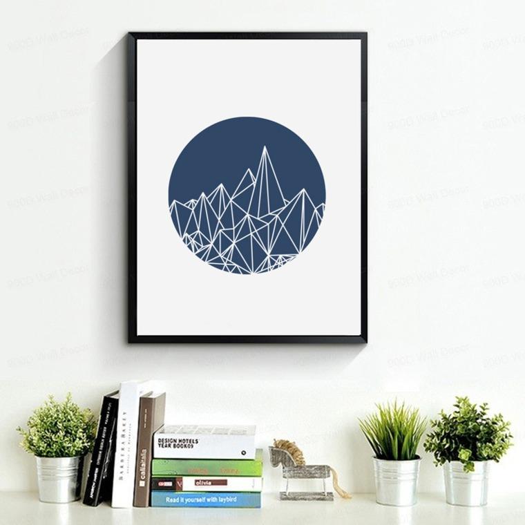 cuadros minimalistas decorar interior