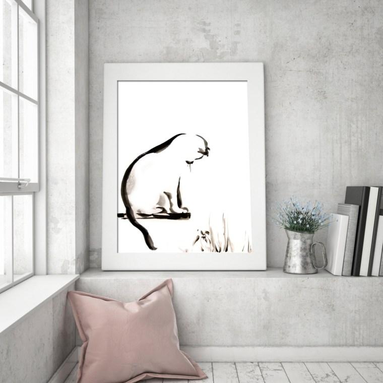 cuadros minimalistas interior casa