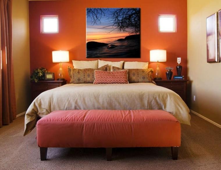 Cuadros para dormitorios elegantes for Dormitorio naranja