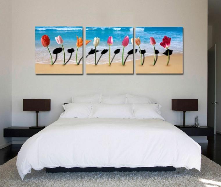 Cuadros para dormitorios elegantes - Cuadros de colores ...