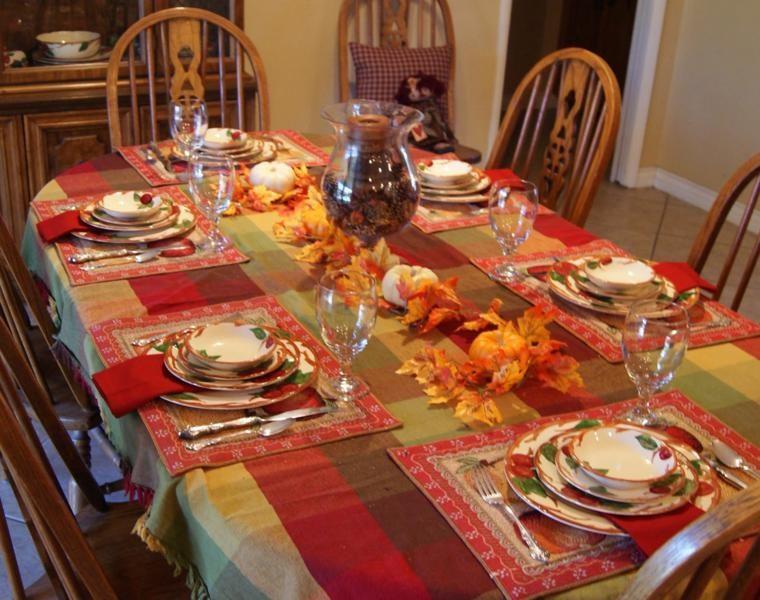 decorar mesa hojas secas