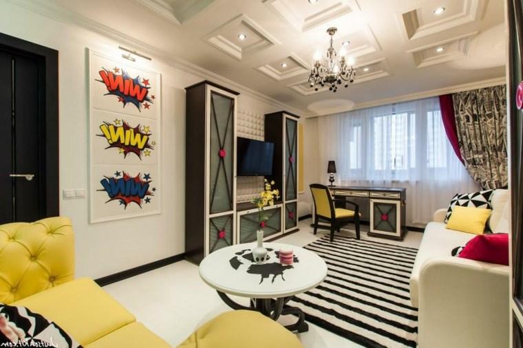Ideas decoracion salon haz que tu interior brille - Decoracion pop art ...