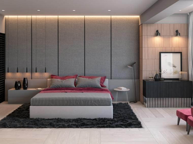 decoración dormitorio moderno gris