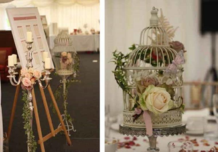 decoración boda vintage interior