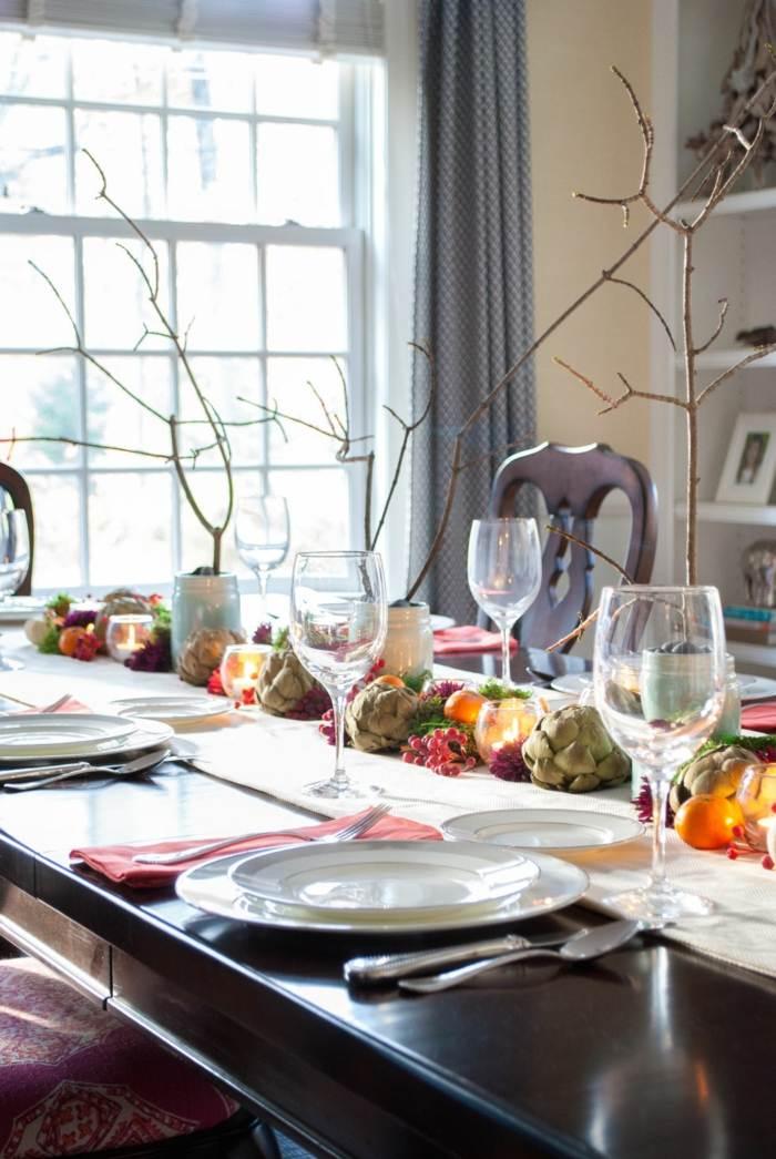 decoracion centro de mesa alcachofas ideas
