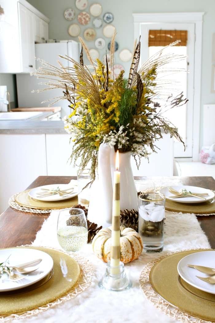 decoraci n centro de mesa precioso para el oto o. Black Bedroom Furniture Sets. Home Design Ideas